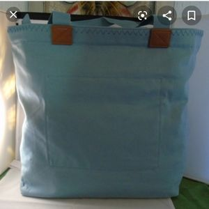 Thirty-one wander tote in stone blue